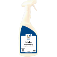 M2 Care Halo Smear Free Professional Glass Cleaner 1 litre Trigger