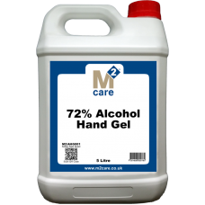 M2 Care 72% Alcohol Hand Gel and Moisturiser 5 Ltr