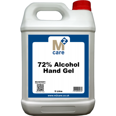 M2 72% Alcohol Hand Gel and Moisturiser 5 Ltr