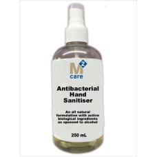 M2 Care Antibacterial Hand Sanitiser 250ml Spray