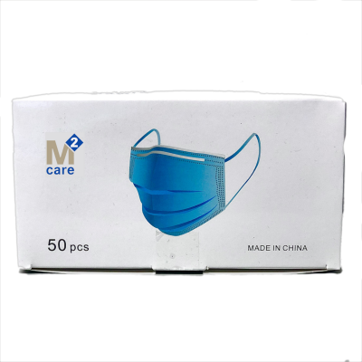3 Ply Blue Disposable Face Mask Complies with EN 14683. CE Approved. Box of 50 Masks - VAT FREE