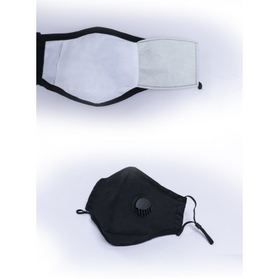 Black Reusable Face Masks Complete With Filters - Pack Of 3