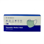 Disposable Medical Face Mask Complies with EN 14683:2019. CE Approved. Box of 50 Masks